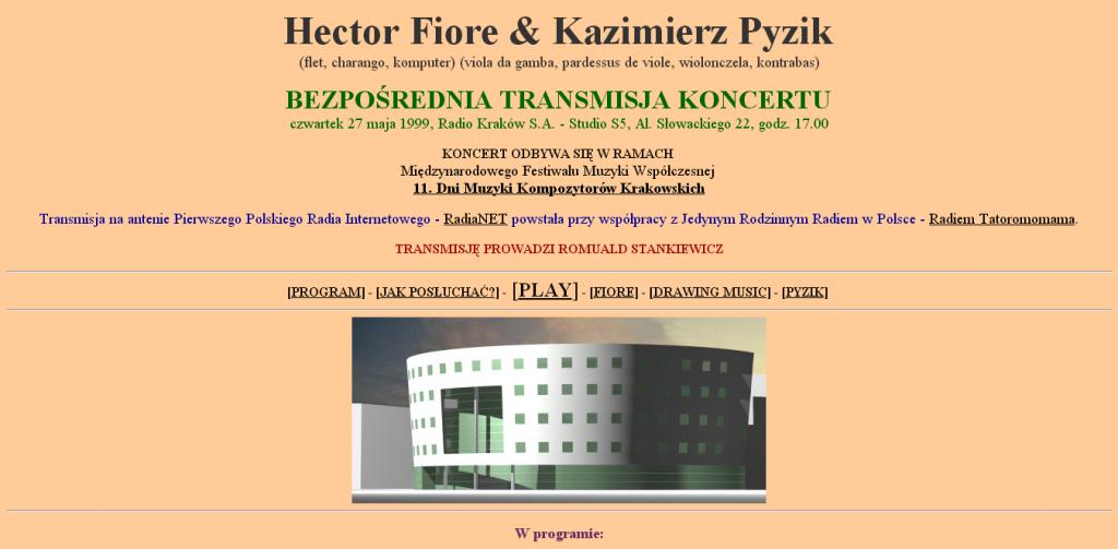 Hector Fiore Kazimierz Pyzik bezpośrednia transmisja koncertu