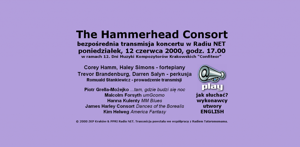 The Hammerhead Consort bezpośrednia transmisja koncertu w Radiu NET